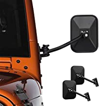 [2pcs] Rear View Mirror One Pair of Sideview Mirrors For J-e-ep Wrangler JK TJ CJ YJ JL JKU 1945-2018 Rubicon Unlimited Sport Sahara Off Road Adventure Rectangular Side View Door Mirrors