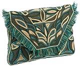 Antik Batik AUSTEEN - Bolso de Mano de Cuero Mujer, Color Azul, Talla 31x31x2 cm (B x H x T)