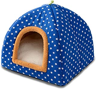 Susu Dual-use Pet Litter Puppy Dog Litter Cat Litter Cat House Yurt Litter Pet Supplies Four Seasons Universal (Color : 02, Size : S)