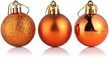 Bstgifts 24ct Christmas Ball Ornaments Shatterproof Christmas Decorations Tree Balls for Holiday Wedding Party Decoration, Tr