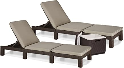chaise longue imitation rotin