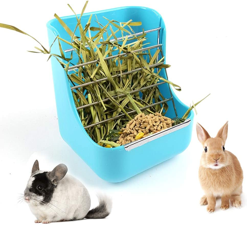 CROWNY 2 in 1 Food Hay Feeder Pig It is very popular gift Guinea Pet Grass for S Rabbit