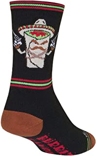 Sock Guy Unisex Bandito Crew Sock, Adult, Black
