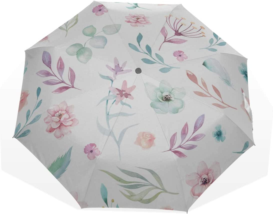 Large Mesa Mall Sun Excellence Umbrella Flower And Butterfly 3 Enjoy Art Happy U Fold