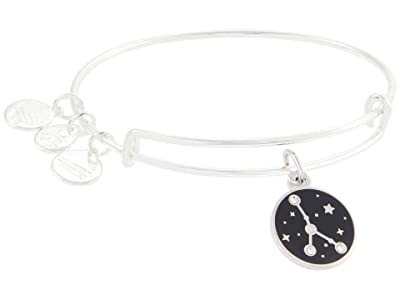 Alex and Ani Color Infusion Cancer Bangle Bracelet (Shiny Silver) Bracelet