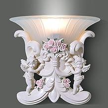 WSW Light Luxury Fashion European Bedroom Head LED Wall Wall Wall American Backdrop Aisle Lights Colored Resin 1 * E27 (30...