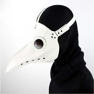 XIUHAO Plague Beak Mask, Steampunk Mask PU Leather Retro Nostalgic for Halloween Christmas Dress Up Masquerade Role-Playing Props, Baise