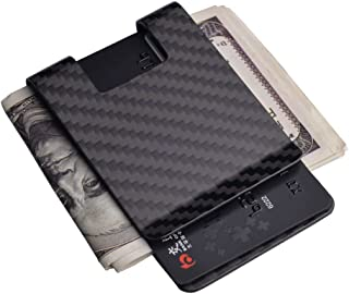 Carbon Fiber Money Clip Wallet-CL CARBONLIFE Business Card Holder RFID Protector Credit Card Holder Wallet Clips For Men