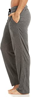 Men's Jersey Cotton/Modal Knit Lounge Pajama Pants with Pockets, Solid Colored Pants