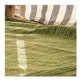 Craft Story Decke YARA I Uni apfelgrün aus 100% Baumwolle I Tagesdecke I Sofa-Decke I Couch-Überwurf I Bedspread I Plaid I Picknickdecke I Läufer I Nutzdecke I 170 x 220cm - 2