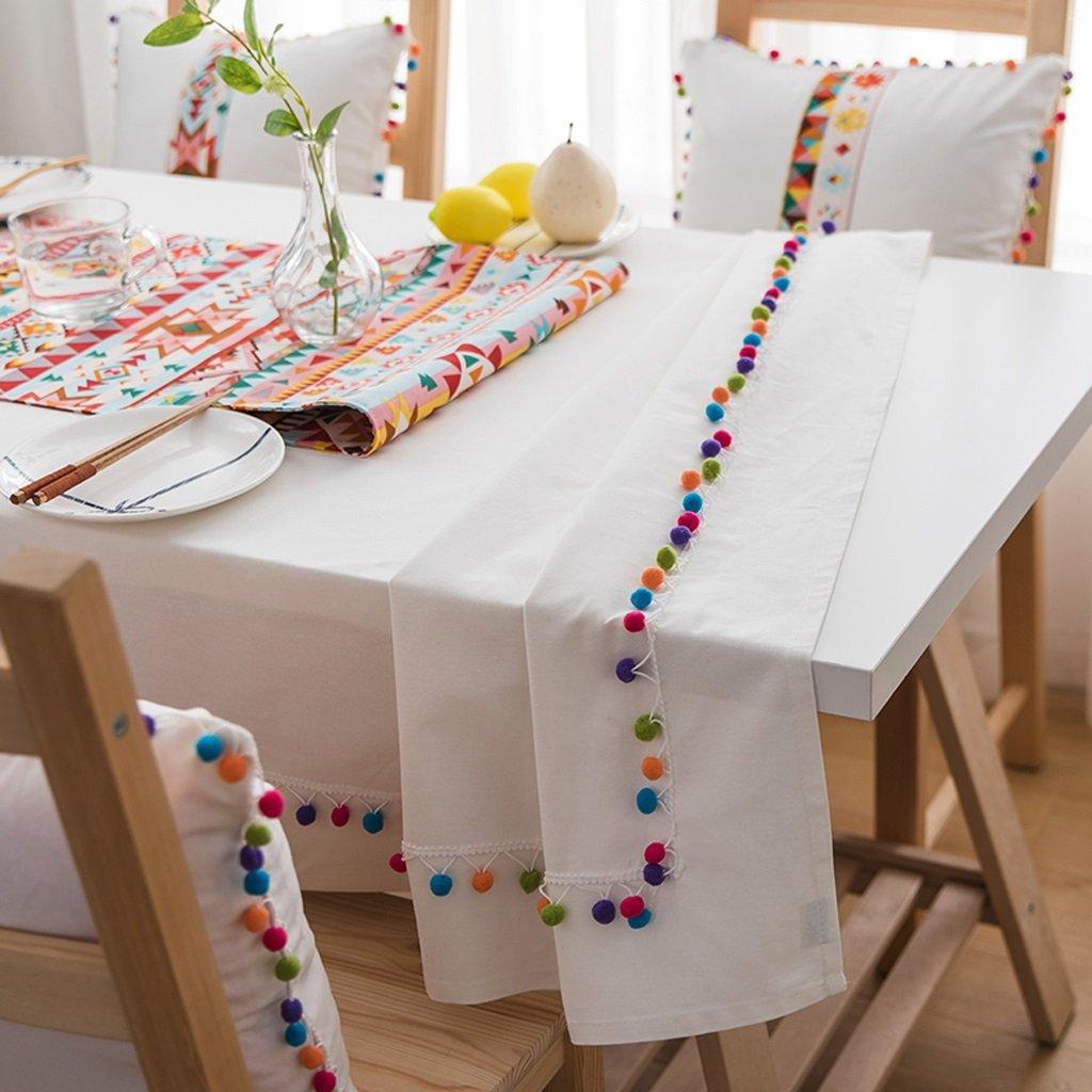 Manteles Simples - Mantel Blanco de Lino de algodón, Mantel casero Rectangular de la Sala de Estar del Color sólido (Tamaño : 130 * 220cm): Amazon.es: Hogar