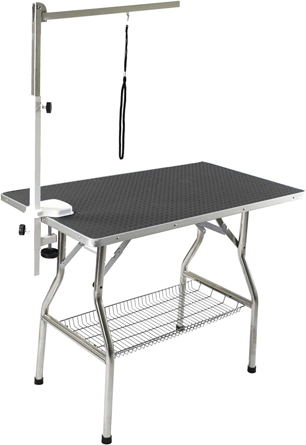 Flying Pig 32  Small Size Heavy Duty Stainless Steel Frame Foldable Dog Pet Grooming Table (32  x 21 )
