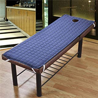 CTOBB Matelas de Massage de Spa de Coton de draps de lit de Massage antidérapant avec des Trous Body Care Dedicated Solid ...