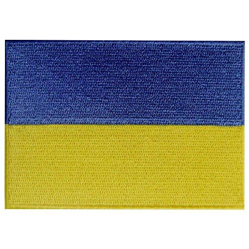 Ukraine-Flagge, bestickter Aufnäher, Ukrainische Flagge, zum Aufbügeln oder Aufnähen, Nationalemblem