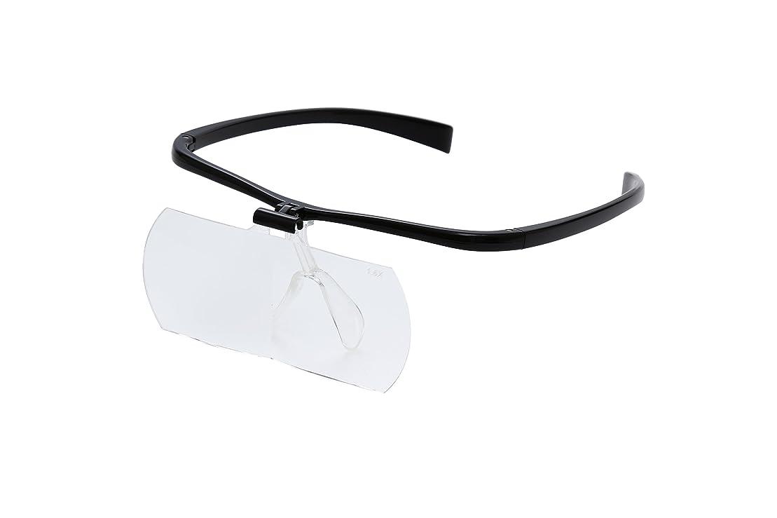 テンポ学生精神的にKenko ルーペ 双眼メガネルーペ 1.6倍 ブラック KTL-207-BK