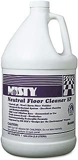 Misty 1033704 Neutral Floor Cleaner Ep, Lemon, 1gal Bottle, 4/carton