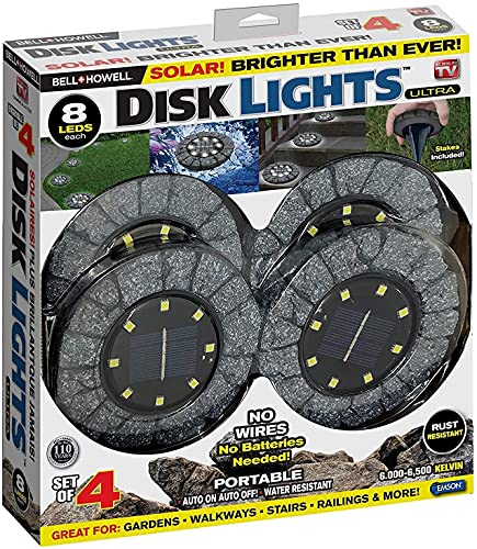 Disk Lights Stone Dark Grey