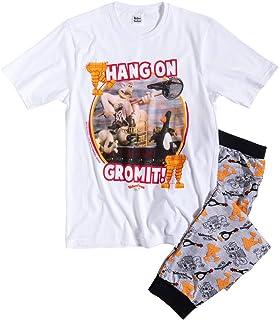 TDP Textiles Mens Wallace and Gromit Pyjamas