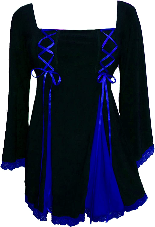 Dare to Wear Victorian Gothic Boho Women's Plus Size Gemini Princess Corset Top