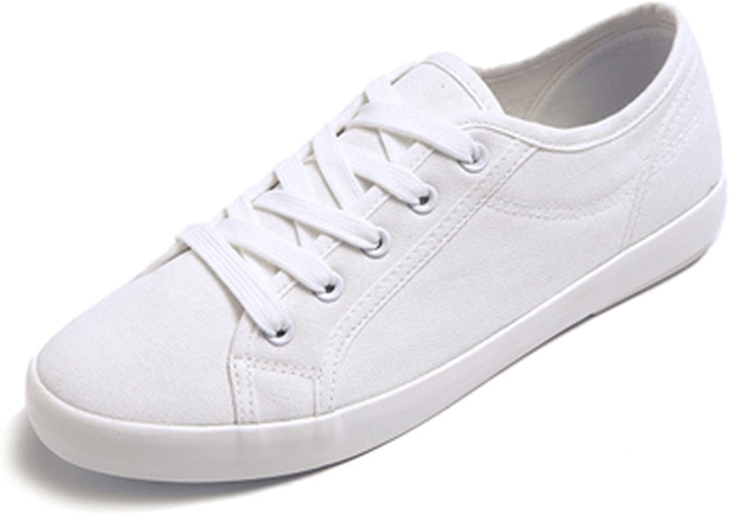 Better Annie Fashion Women White Canvas shoes Low Top Casual Flat Student shoes Lace Up Solid Canvas Women shoes