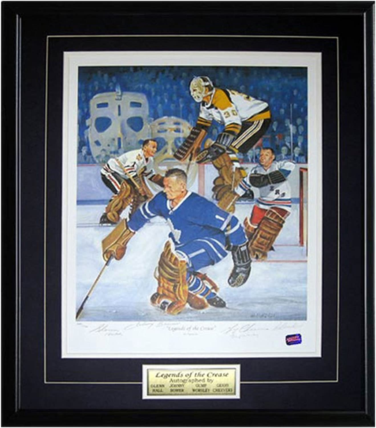 Autograph Authentic Sports Fan NHL Autographed Legends Of The Crease Lithograph  Limited Edition of 1966