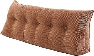Tête de lit Coussins Incliné Lecture Oreillers Lit Canapé Dossier tête de lit/Housse détachable en Flocons de granulés