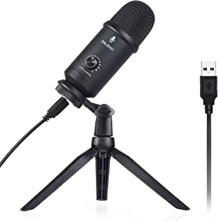 USB Microphone for Computer, RALENO Professional Studio Cardioid Condenser Mic Kit Compatible with Mac PC Laptop for Skype YouTube Teaching Gaming Recording.