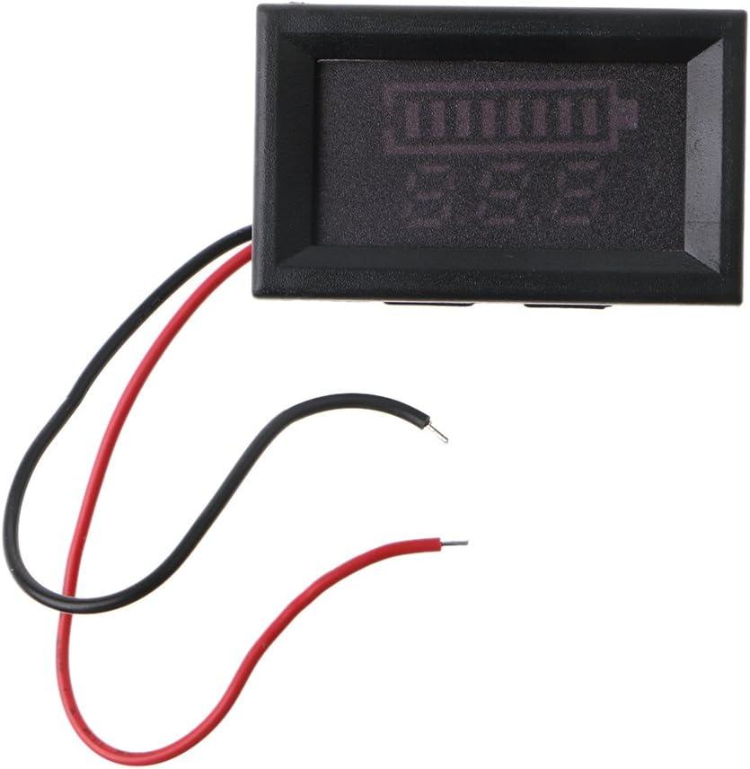 Adnana 12V Battery Status Capacity LED Display Indicator Digital Voltmeter Tester