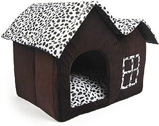 comprar comparacion Luxury High-End Double Pet casa marrón para perro 55x 40x 42cm