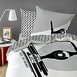 Star Wars – Funda de edredón y de almohada Star Wars Fighter – 100 % algodón – Color blanco,...