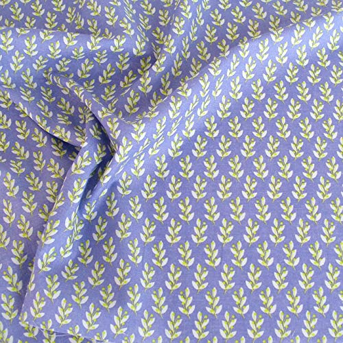 TOLKO Baumwollstoff aus Oeko-Tex Baumwolle | Bunt leuchtende Farben | Kochfeste Baumwoll-Popeline zum Nähen Dekorieren | weiche Meterware Kleiderstoff Dekostoff Bezugsstoff 50cm (Lila Weiß Kochfest)
