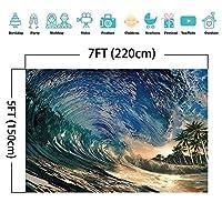 誕生日をテーマにしたパーティーの背景の壁の装飾写真サーフィン誕生日の背景波写真の背景夏のビーチパーティーの写真撮影の背景