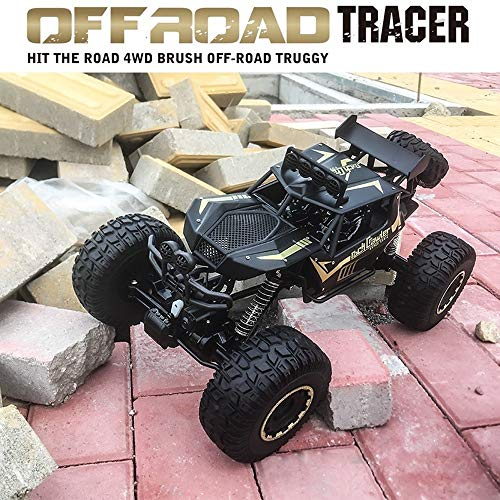 OUUED Big Mac RC Monster Truck 1/8 Big Foot Vehicle 4WD Climbing Alloy Racing Anti-Collision 2.4Ghz Afstandsbediening 50cm lang voor Boy Girl Toy Gift