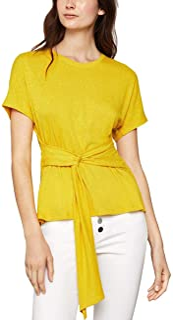 BCBGMAXAZRIA Women's Short Sleeve Waist Tie Top