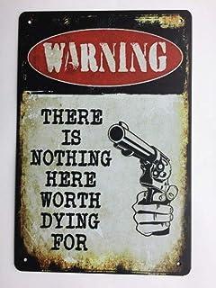 لافتة معدنية صفيح تحذير لا شيء يستحق الموت خمر حانة بار ديكور جدار اللوحة TS156