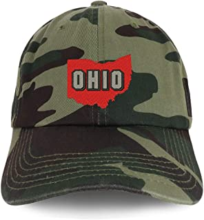 Trendy Apparel Shop Ohio State Embroidered Unstructured Cotton Dad Hat
