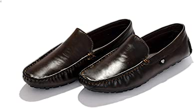 Curewe Kerien Mens Synthetic Leather Casual Slip on Loafers Breathable Driving Moccasins Shoes