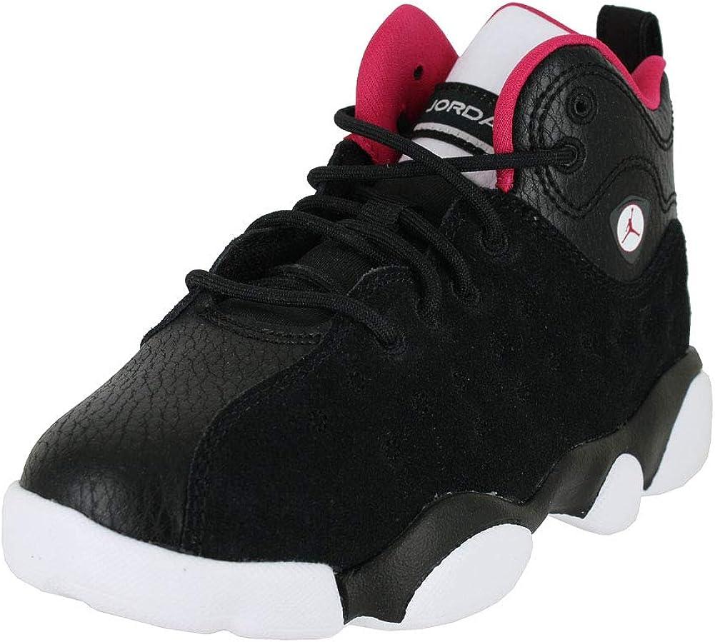 Jordan Kids Jumpman Team II PS Black Rush Pink White DK Grey Size 1