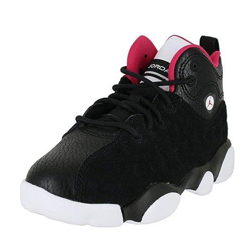 842f97af542b Jordan Kids Jumpman Team II PS Black Rush Pink White DK Grey Size 1