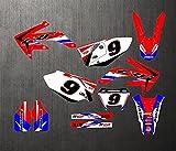Motocicleta CRF450X 2007-2005 3M Pegatinas Calcomanías Fondos Kits Gráficos para Honda CRF 450X CRF450X 2005 2006 2007 CRF-450X (Color : Silver)