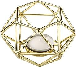 Bundle of 2 Fashioncraft 4 Gold Geometric Hexagon Tea Light Candle Holders