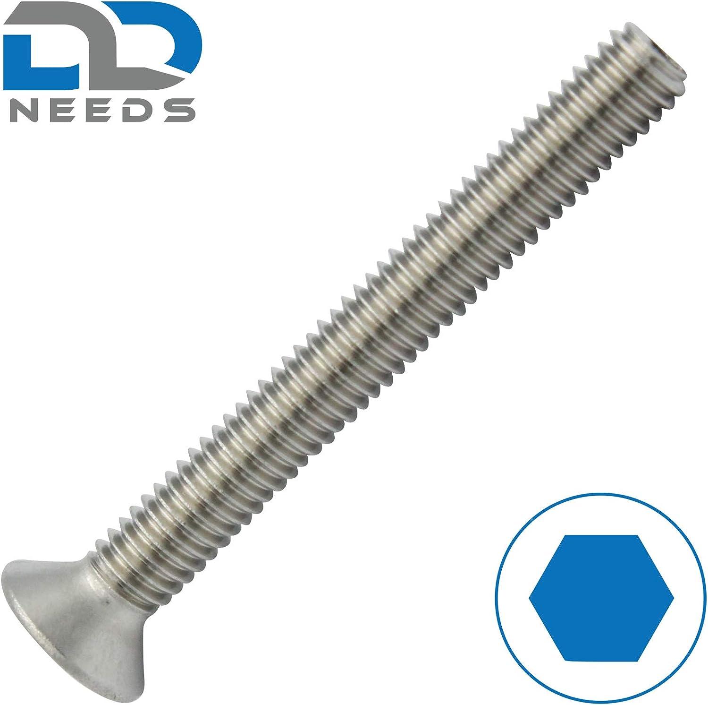 M12x30 Senkschrauben mit Innensechskant VPE: 10 St/ück ISK DIN 7991 // ISO 10642 Senkkopfschrauben aus rostfreiem Edelstahl A2 V2A D2D