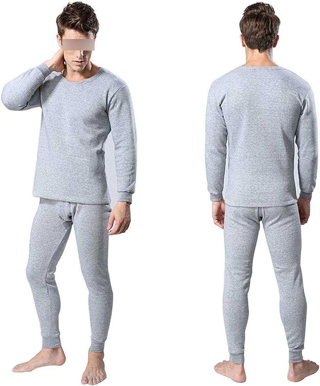 koweis Men's Thermal Underwear Sets Winter Warm Men's Underwear Men's Thick Thermal Underwear,LH,4XL