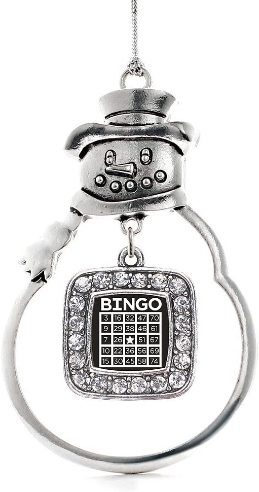 Inspired Silver - Cheap mail order specialty store Bingo Square Sno Ornament Charm Limited Special Price