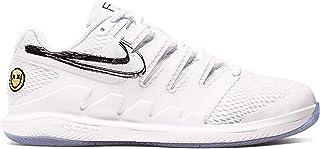 Nike Junior's Vapor X (6 M US Big Kid, White/White/Black/Canary)