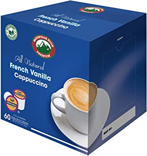 Mountain High All Natural Cappuccino K Cups 2.0 Compatible (French Vanilla, 60)