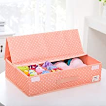 Drawer Divider Organizers Foldable Closet Underwear Organizer with Lid Breathable Fabric Storage Box for Socks,Bra,Scarves...