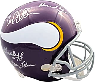 Purple People Eaters Autographed Minnesota Vikings Full-Size Helmet - JSA COA