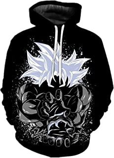 CHENMA Men Dragon Ball Z 3D Print Pullover Hoodie Sweatshirt with Front Pocket