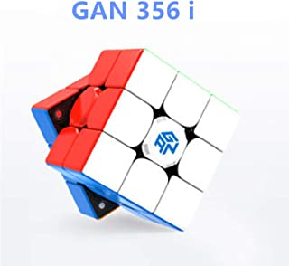 LiangCuber GAN356 i Magnetic Stickerless Speed Cube Gans 3X3 356 i Station Magnets Online Competition Cubes GAN 356 Infinity(2019 New Version)